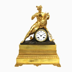 Charles X Uhr aus vergoldeter Bronze, 19. Jh