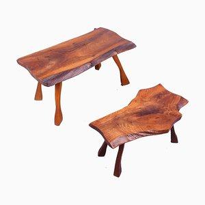 Tables d'Appoint Tronc d'Arbre, 1950s, Set de 2