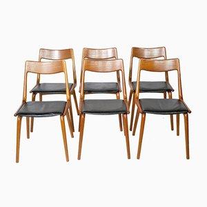 Teak Boomerang Stühle von Alfred Christensen für Slagelse, 1960er, 6er Set