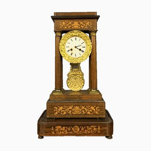 Horloge Empire en Palissandre, 1850s