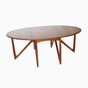 Mid-Century Danish Teak Folding Dining Table by Kurt Østervig for Jason Møbler