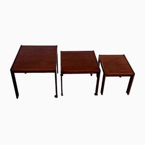Tavolini nr. 777 di Afra & Tobia Scarpa per Cassina, anni '60, set di 3