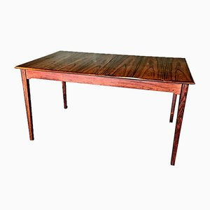 Vintage Rosewood Extendable Dining Room Table, 1960s