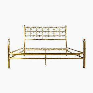 Mid-Century Italian Double Brass Bed by Osvaldo Borsani
