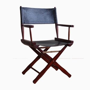 Vintage Rosewood Folding Safari Director's Chair from M. Hayat & Bros.