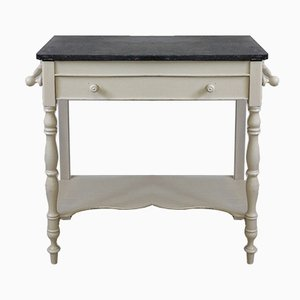 Vintage Washstand or Washing Table with Marble Top, 1900s