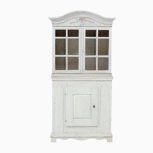 Gustavian Kitchen Cabinet with Original Painting