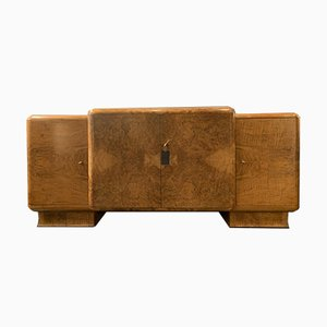 Art Deco Sideboard with Stone Top, 1930s
