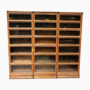 Antique Cabinets from Globe Wernicke, Set of 21