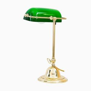 Art Deco Swiveling Banker's Table Lamp, Vienna, 1920s