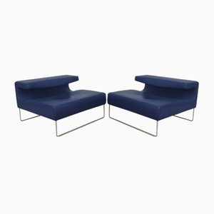 Lowseat Leather Lounge Chairs by Patricia Urquiola for Moroso, 2000s, Set of 2