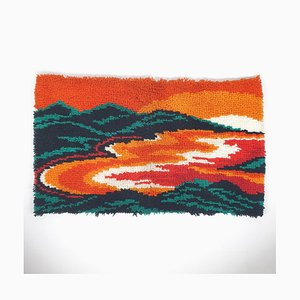 Dänischer Vintage Ege Rya Sunset Teppich aus Wolle, 1960er