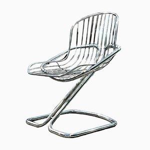 Vintage Tubular Lounge Chair, 1970s