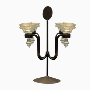 Danish Wrought Metal Candle Holder