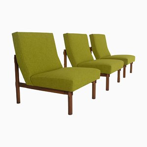 Italian Modern Model 869 Chairs in Walnut by Ico & Luisa Parisi for Cassina, 1960s, Set of 3