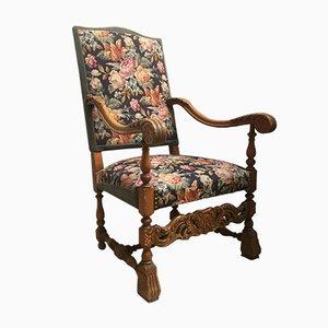 Antique Baroque Style Throne Armchair