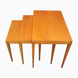 Mid-Century Teak Nesting Tables, 1960s, Set of 3