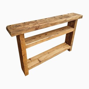 Rural Pine and Oak Side Table