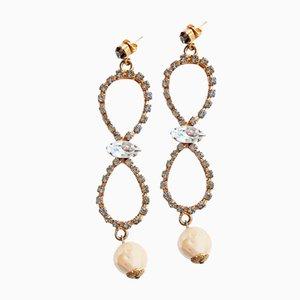 Vintage Ohrringe mit Perlen & Topas, 1970er