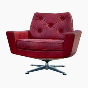 Mid-Century Danish Executive Lounge Swivel Chair by Svend Skipper, 1960s