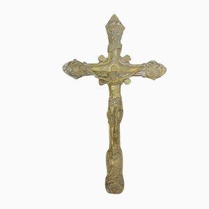 Art Nouveau Hanging Brass Cross
