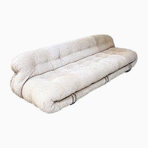 Italian Mod. Soriana 3-Seater Sofa by Afra & Tobia Scarpa for Cassina, 1970s