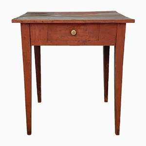Early 19th-Century Red Northern Swedish Gustavian Country Table