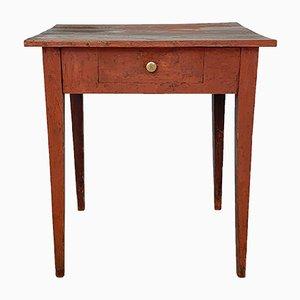 Roter schwedischer gustavianischer Landtisch aus dem frühen 19. Jh