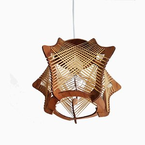 Mid-Century French Wooden Ceiling Lamp, 1960s