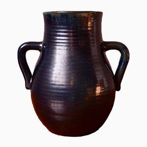 Schwarze Vase von Accolay