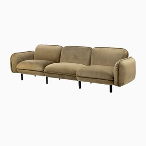Bean 3-Seater Sofa Set in Green Velour from Emko