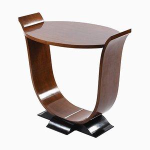 Italienischer Art Deco Ovaler Tisch mit U-förmigem Beistelltisch