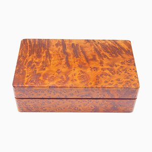 Box in Burled Wood, France, 20th Century