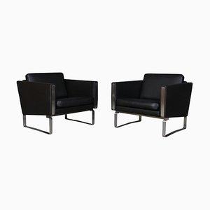 Model JH-101 Lounge Chairs by Hans J. Wegner, Set of 2