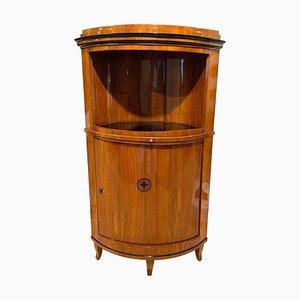 Biedermeier Corner Cabinet with Cherry Veneer, 1820s