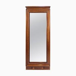 Hoher Spiegel mit Rahmen aus Mahagoni, 1880er