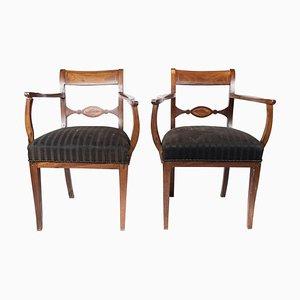 Armlehnstühle aus Mahagoni, 1860er, 2er Set