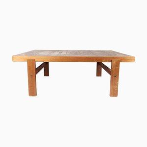 Table Basse en Teck avec Carreaux de Design, Danemark, 1960s