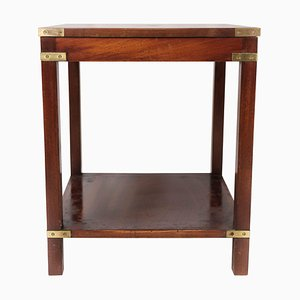 Side Table of Mahogany with Brass Fittings, 1960s