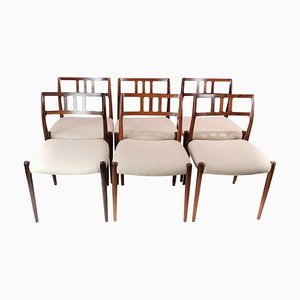 Model 79 Dining Room Chairs by N. O. Moeller for J. L. Møllers, 1960s, Set of 6