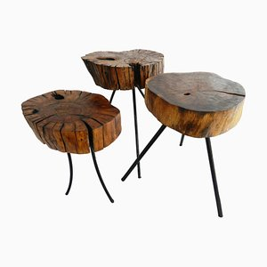 Mid-Century Stools or Side Tables, Set of 3