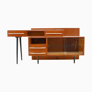 Modular Desk and Chest of Drawers by M. Pozar, Czechoslovakia, 1960s, Set of 2