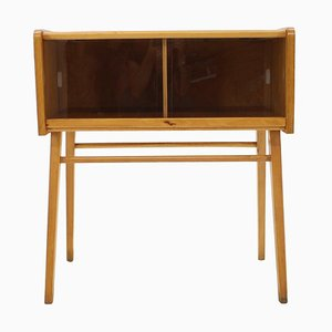 Oak and Glass Cabinet, Czechoslovakia, 1960s