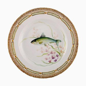 Model 19/3549 Fauna Danica Fish Plate in Hand-Painted Porcelain from Royal Copenhagen