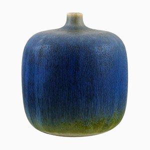 Vase in Glazed Ceramics by Sven Wejsfelt for Gustavsberg Studiohand, 1930-2009