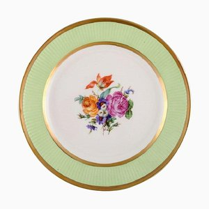 Plate in Hand-Painted Porcelain with Floral Motif from Royal Copenhagen