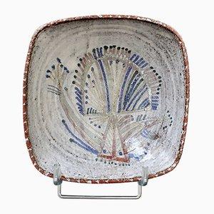 Vintage French Ceramic Bowl by Jean Derval for Le Mûrier, 1960s