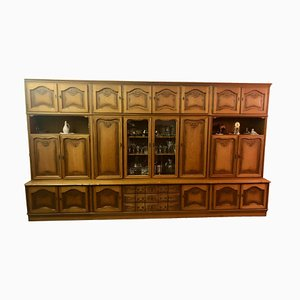 Wooden Wall Unit, 1970s