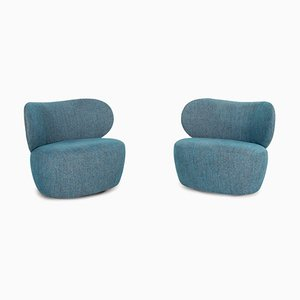 Boa Blue Armchairs from Walter Knoll / Wilhelm Knoll, Set of 2