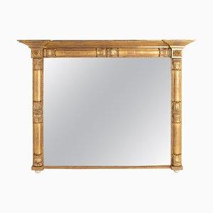 Antique Irish Water Gilded Overmantle Mirror, 1820s